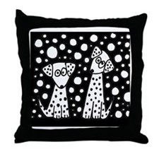 Spotted Dogs Throw Pillow