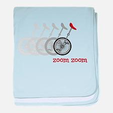 Unicycle Zoom Zoom baby blanket