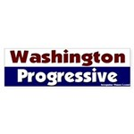 Washington Progressive Bumper Sticker