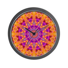 Trippy Hippy | v8 Geometric Mandala Wall Clock