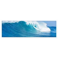 Blue Wave Bumper Car Car Sticker