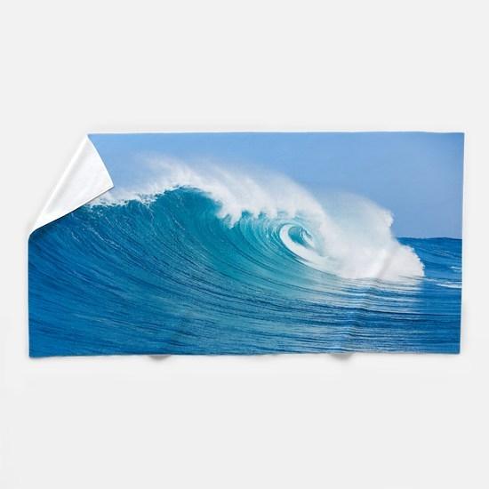 Blue Wave Beach Towel