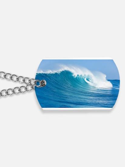 Blue Wave Dog Tags