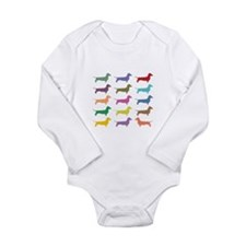 Colorful Dachshunds Body Suit