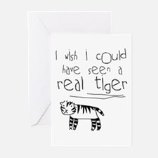 No More Tigers Greeting Cards (Pk of 10)