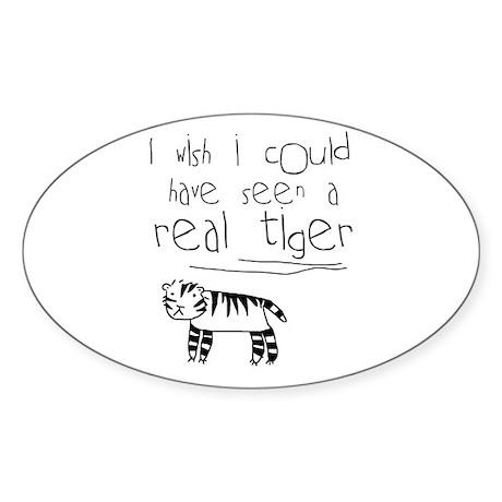 No More Tigers Oval Sticker