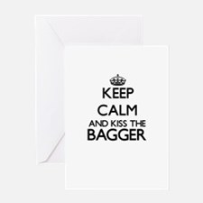 Keep calm and kiss the Bagger Greeting Cards