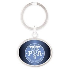 Cute Assistance Oval Keychain