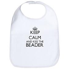 Keep calm and kiss the Beader Bib