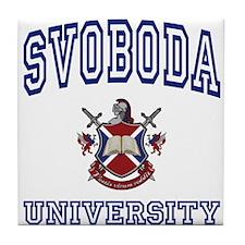 SVOBODA University Tile Coaster
