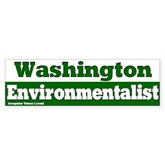 Washington Environmentalist Bumper Sticker
