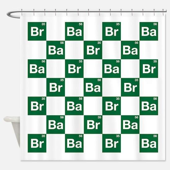 Breaking Bad Logo Pattern Shower Curtain