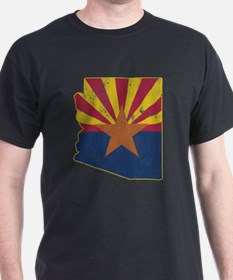 Vintage Arizona State Outline Flag T-Shirt