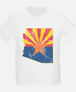 Vintage Arizona State Outline F T-Shirt