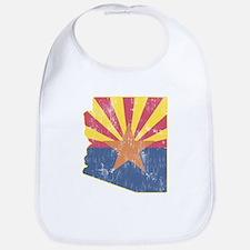 Vintage Arizona State Outline Flag Bib