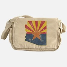 Vintage Arizona State Outline Flag Messenger Bag