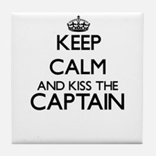 Keep calm and kiss the Captain Tile Coaster