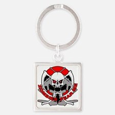 Zombies fear me r Square Keychain