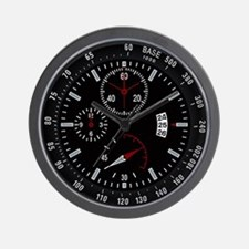 Military Tactical Black Wall Clock