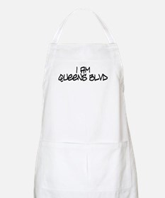 I am Queens Blvd 4 - Blk BBQ Apron