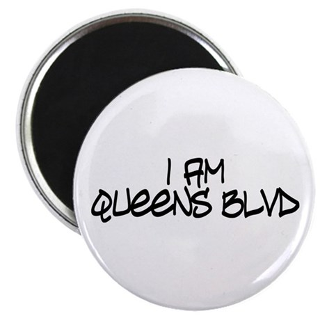 I am Queens Blvd 4 - Blk Magnet