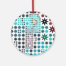 Sweet Pattern Stars 04 Ornament (Round)