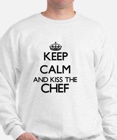 Keep calm and kiss the Chef Sweatshirt