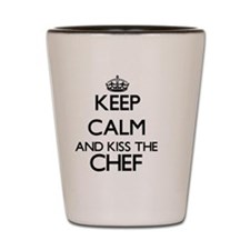 Keep calm and kiss the Chef Shot Glass