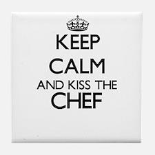 Keep calm and kiss the Chef Tile Coaster