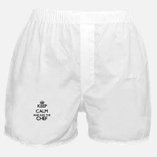 Keep calm and kiss the Chef Boxer Shorts