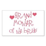 Grandmother of the Bride Rectangle Sticker