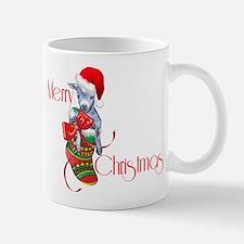 Merry Christmas Baby Goat in Stocking Mugs