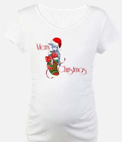 Merry Christmas Baby Goat in Stocking Shirt