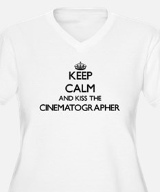 Keep calm and kiss the Cinematog Plus Size T-Shirt