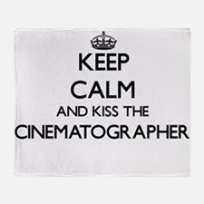 Keep calm and kiss the Cinematograph Throw Blanket