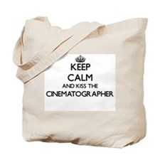 Keep calm and kiss the Cinematographer Tote Bag
