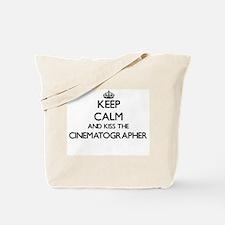 Keep calm and kiss the Cinematographer Tote Bag