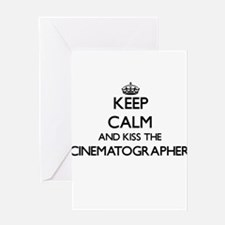 Keep calm and kiss the Cinematograp Greeting Cards