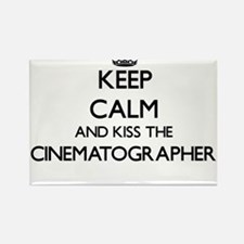 Keep calm and kiss the Cinematographer Magnets