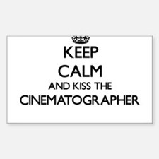 Keep calm and kiss the Cinematographer Decal