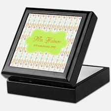 Green Paper Clips Teachers Personaliz Keepsake Box