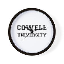 COWELL UNIVERSITY Wall Clock