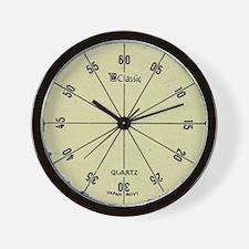 Vintage Dieselpunk Yellow Wall Clock