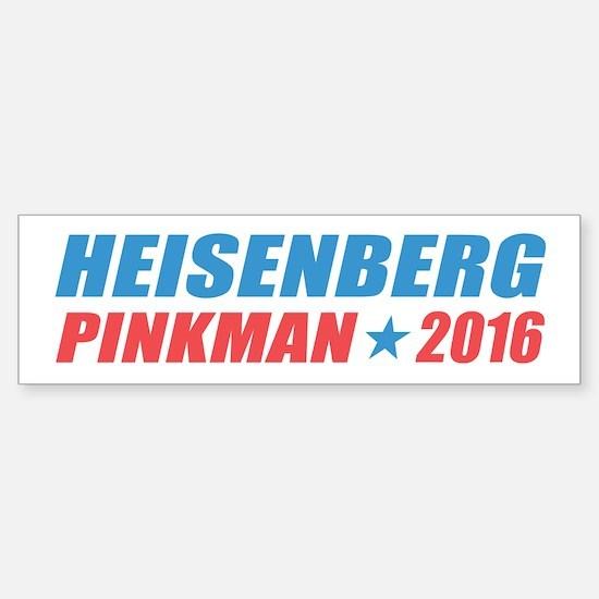 Heisenberg Pinkman 2016 Bumper Bumper Bumper Sticker