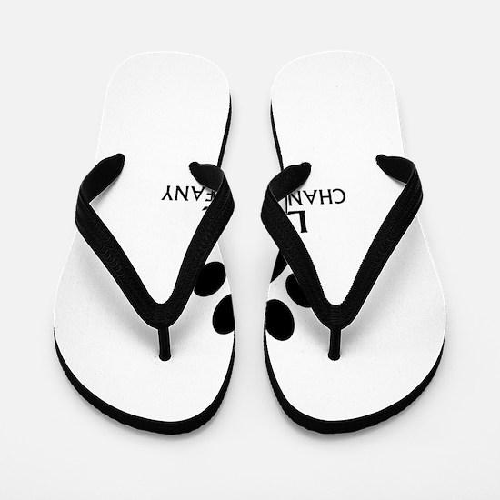 Love Chantilly Tiffany Cat Designs Flip Flops