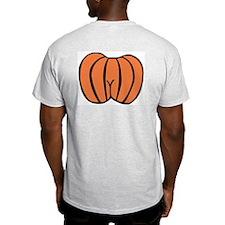 Pumpkin Bum Ash Grey T-Shirt