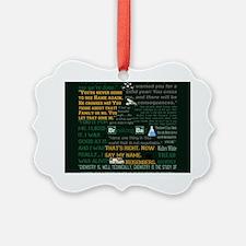Walter White Quotes Ornament