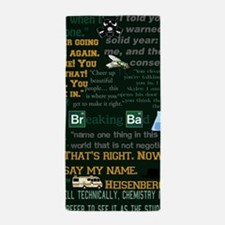 Walter White Quotes Beach Towel
