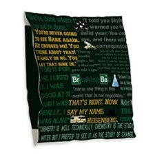 Walter White Quotes Burlap Throw Pillow
