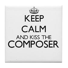 Keep calm and kiss the Composer Tile Coaster